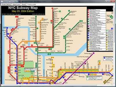 New York Subway Station Map